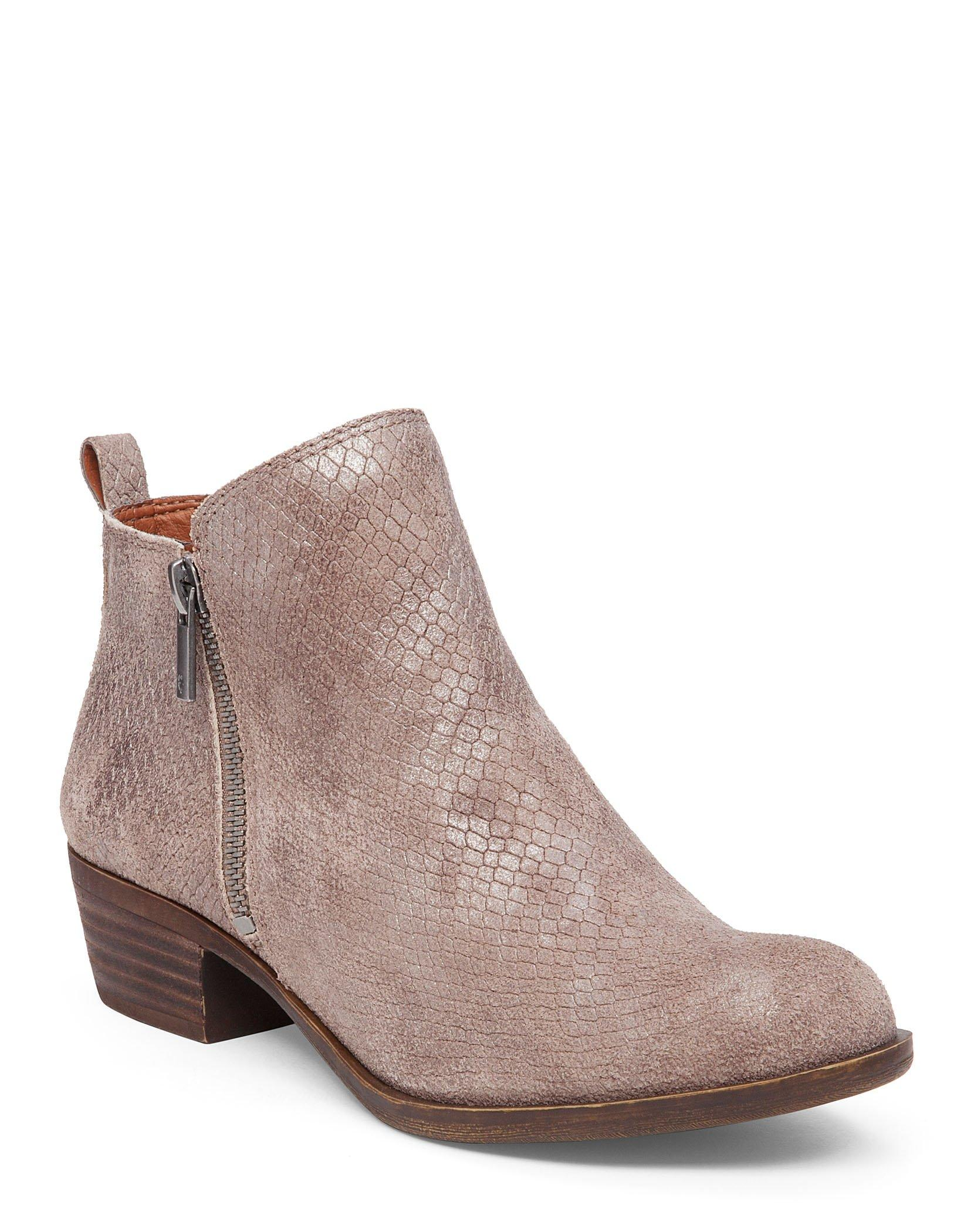 BASEL LEATHER FLAT BOOTIE, image 1