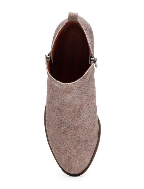 BASEL FLAT LEATHER BOOTIE, MEDIUM DARK BEIGE