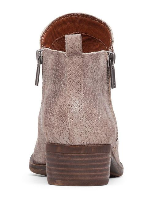 BASEL LEATHER FLAT BOOTIE, MEDIUM DARK BEIGE