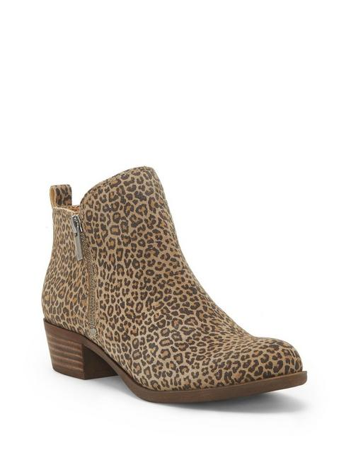 BASEL FLAT LEATHER BOOTIE, CAMEL