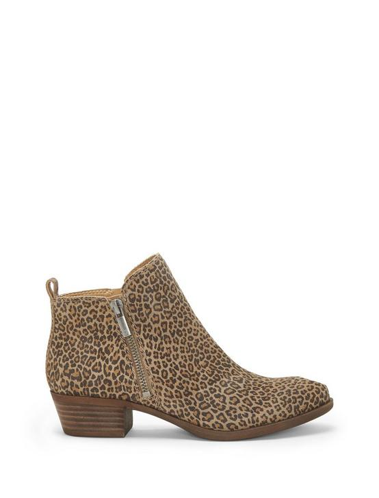 BASEL FLAT LEATHER BOOTIE, CAMEL, productTileDesktop
