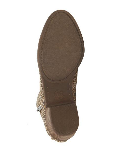 BASEL LEATHER FLAT BOOTIE, CAMEL