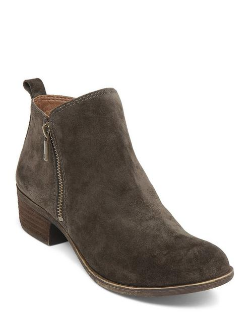 BASEL FLAT LEATHER BOOTIE, OLIVE