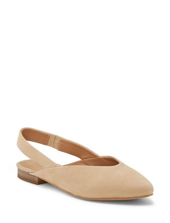 BENTEN SLING BACK FLAT, LIGHT BEIGE, productTileDesktop