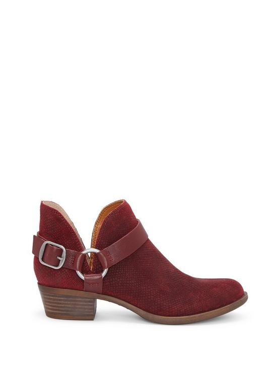 BERNAEH LEATHER BOOTIE, OVERFLOW RED, productTileDesktop