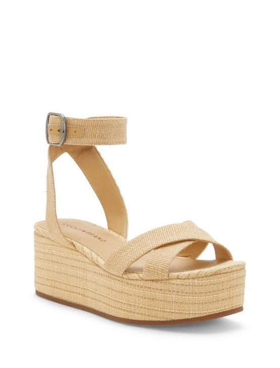 BIKARO WOVEN WEDGE, MEDIUM BEIGE, productTileDesktop