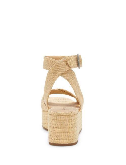 BIKARO WOVEN WEDGE, MEDIUM BEIGE