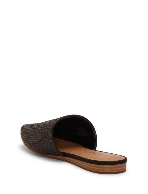 BRADELL LEATHER SLIDE, BLACK