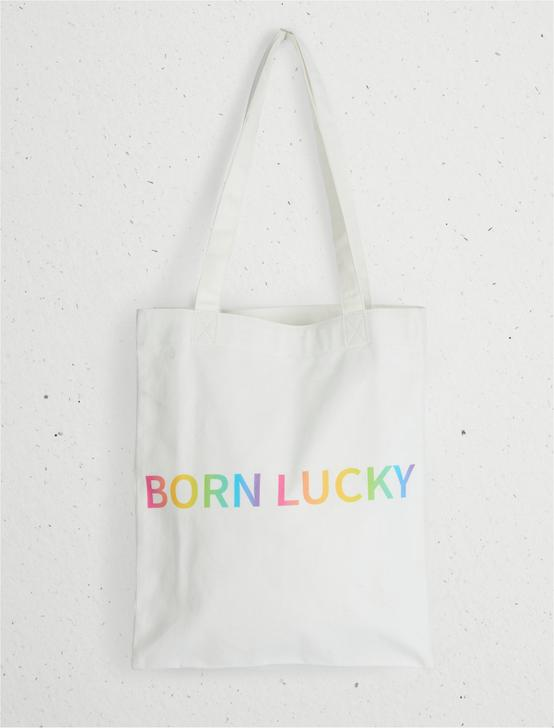 BORN LUCKY PRIDE TOTE, NATURAL, productTileDesktop