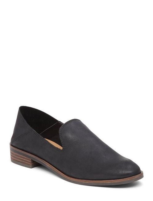 CAHILL LEATHER FLAT, BLACK