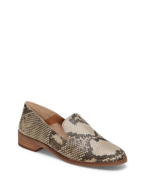 CAHILL LEATHER FLAT, LIGHT GREY
