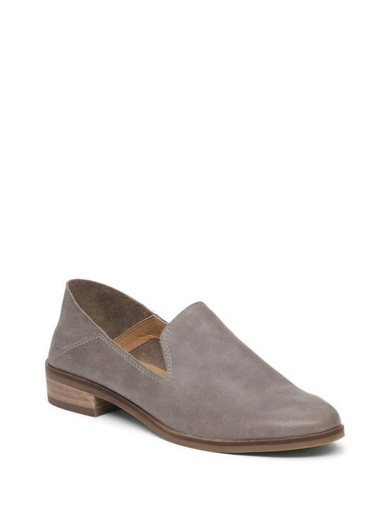 CAHILL LEATHER FLAT, OPEN GREY, productTileDesktop