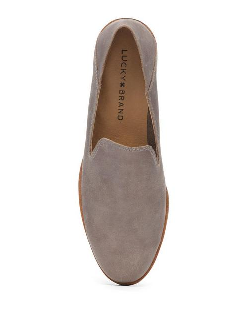 CAHILL LEATHER FLAT, OPEN GREY