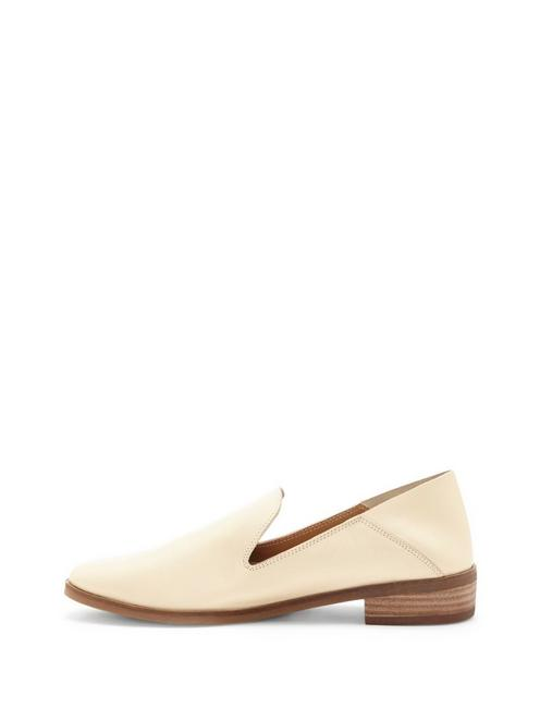 CAHILL LEATHER FLAT, BUFF