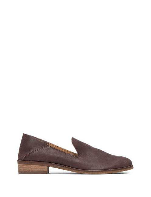 CAHILL LEATHER FLAT, TOBACCO