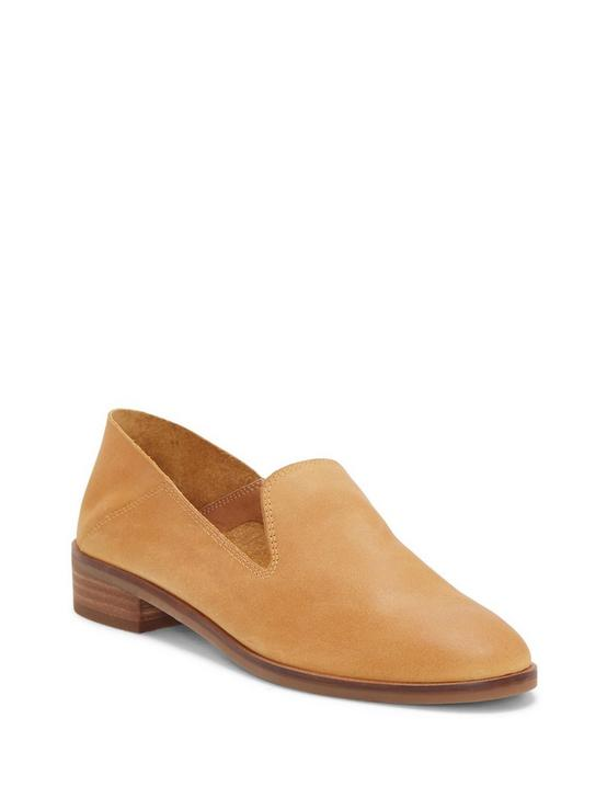 CAHILL LEATHER FLAT, OPEN BROWN/RUST, productTileDesktop