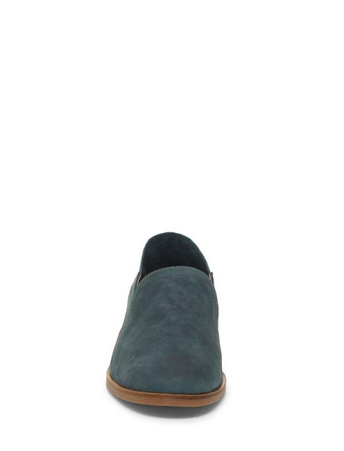 CAHILL LEATHER FLAT, LIGHT GREEN