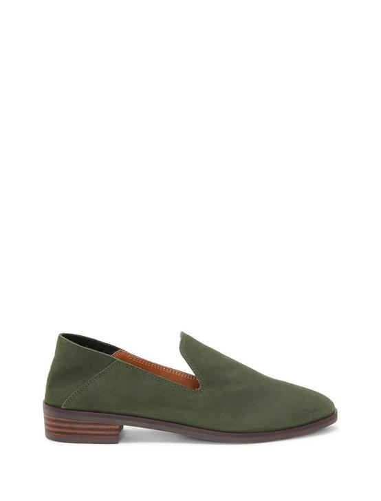 CAHILL LEATHER FLAT, OPEN GREEN, productTileDesktop