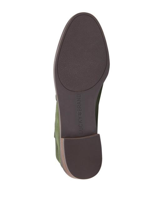 CAHILL LEATHER FLAT, OPEN GREEN