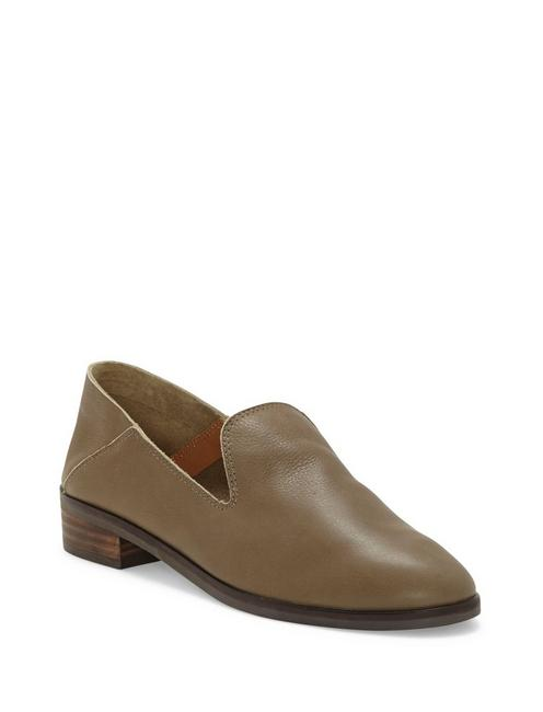 CAHILL LEATHER FLAT, ANTIQUE GREEN