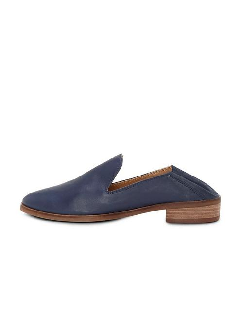 CAHILL LEATHER FLAT, DARK BLUE