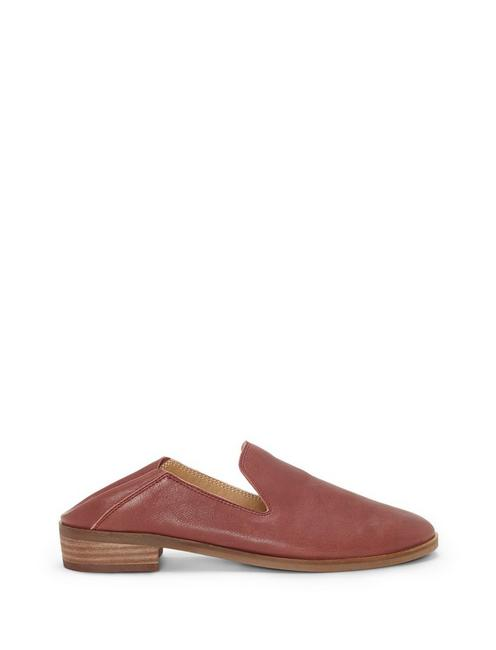 CAHILL LEATHER FLAT, DARK RED