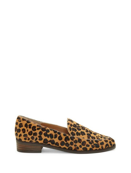 CAMDYN CALF HAIR FLAT, LEOPARD, productTileDesktop