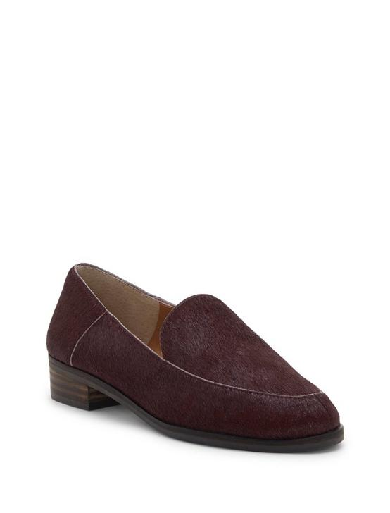 CAMDYN CALF HAIR FLAT, BURGUNDY, productTileDesktop