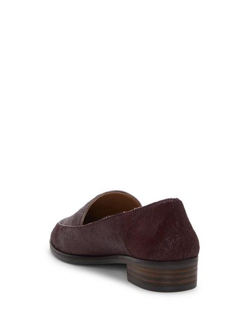 CAMDYN CALF HAIR FLAT, BURGUNDY