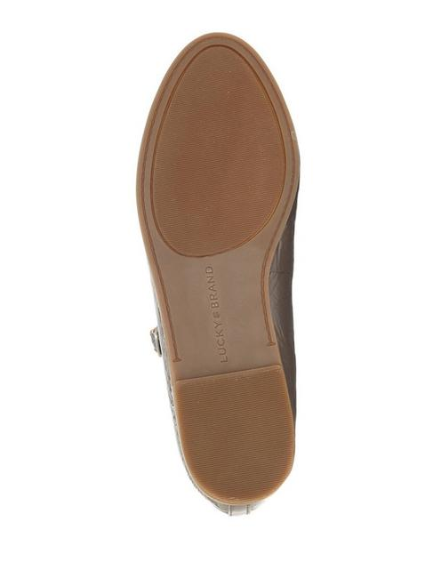 CEENTANA FLAT MARY JANE, DARK BEIGE