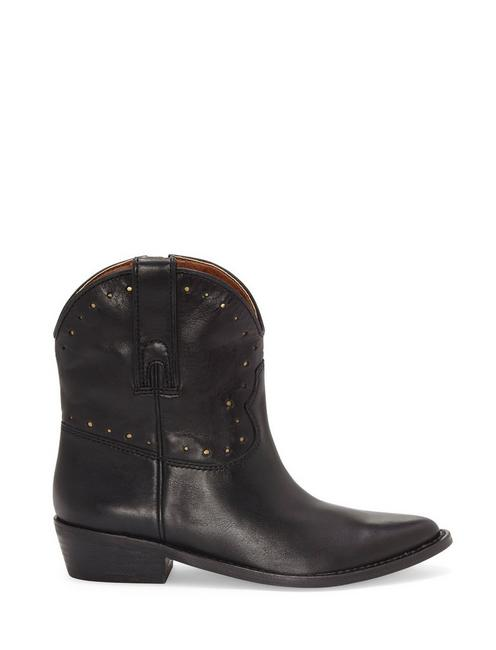 CHANTEL LEATHER BOOTIE, BLACK