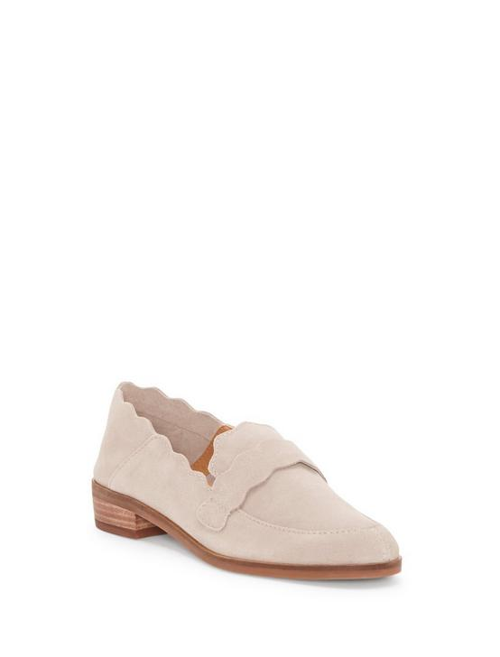 CALLISTER SUEDE FLAT, LIGHT GREY, productTileDesktop