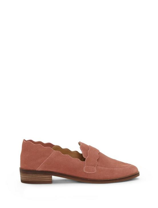 CALLISTER SUEDE FLAT, CORAL PINK, productTileDesktop