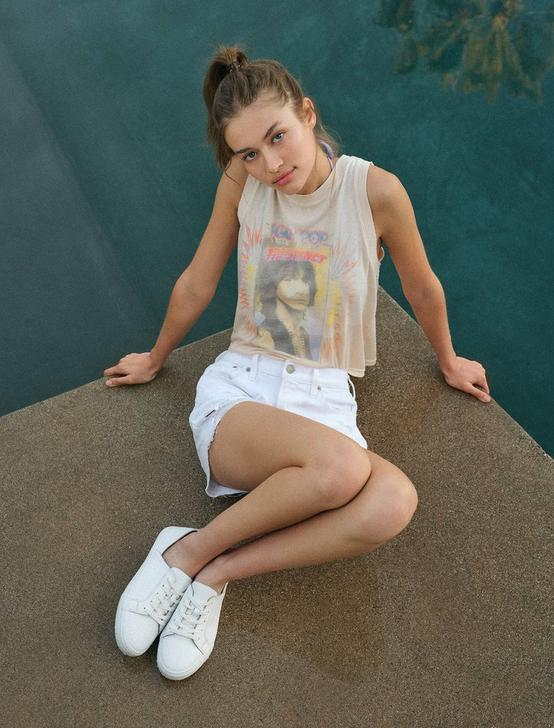 DARLEENA LEATHER SNEAKER, NATURAL, productTileDesktop