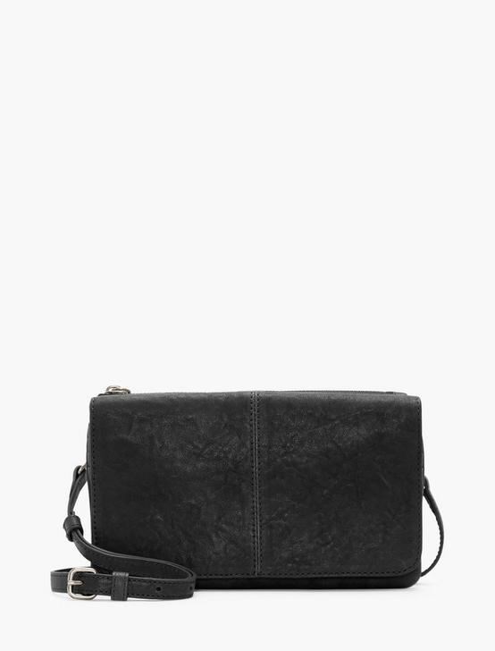 DEV CONVERTIBLE LEATHER WALLET BAG, BLACK, productTileDesktop
