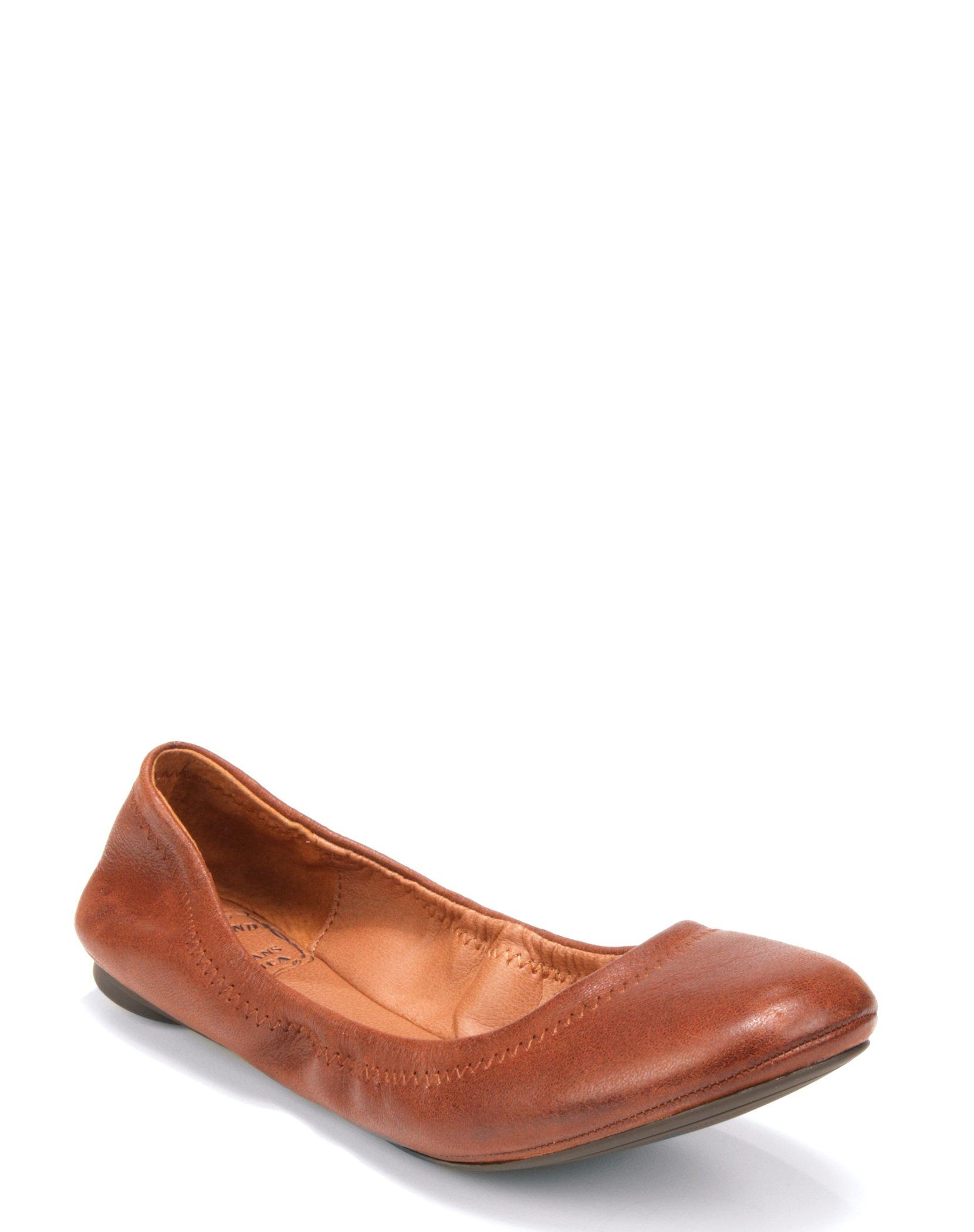 EMMIE LEATHER FLATS, image 1