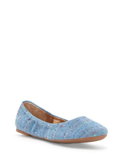 EMMIE FLATS, OPEN BLUE/TURQUOISE