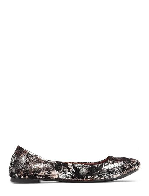 EMMIE LEATHER FLATS, FEATHER