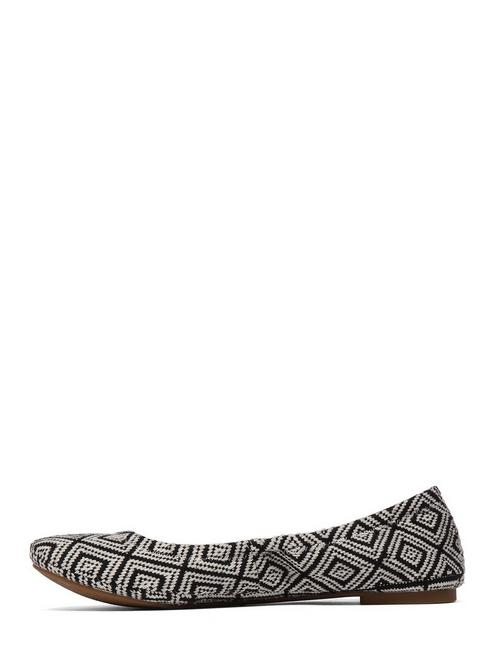 EMMIE LEATHER FLATS, BLACK/NATURAL