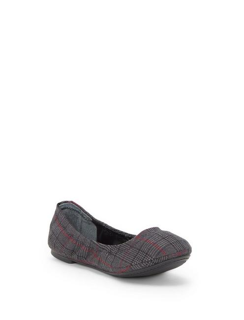 EMMIE LEATHER FLATS, DARK GREY
