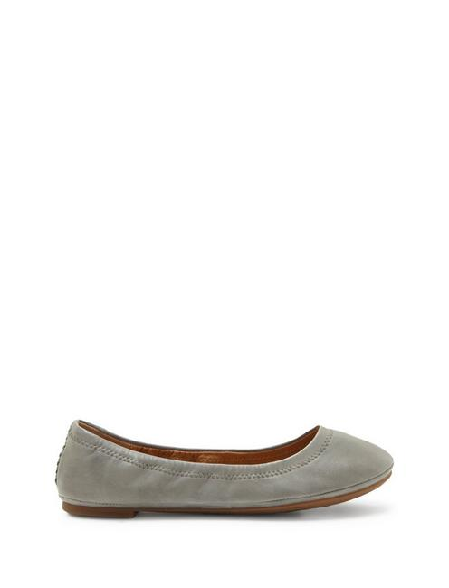 EMMIE LEATHER FLATS, SHADOW SUEDE