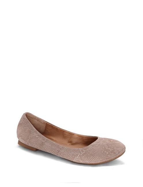EMMIE LEATHER FLATS, OPEN GREY