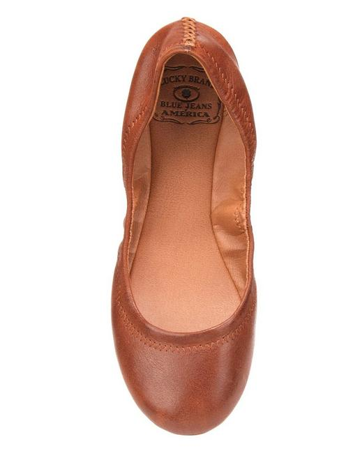 EMMIE LEATHER FLATS, BOURBON