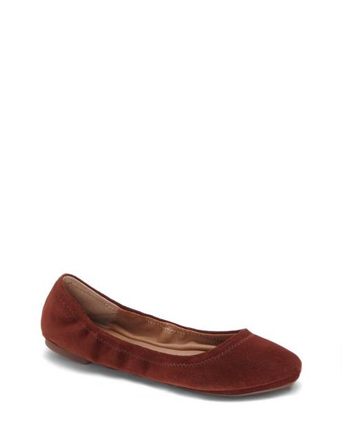 EMMIE LEATHER FLATS, RYE
