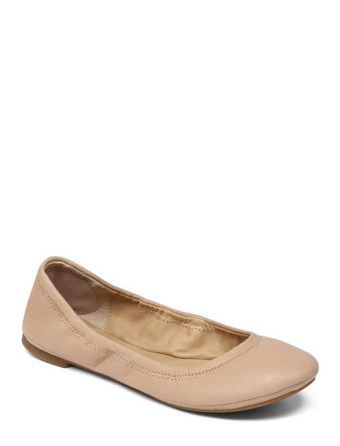 EMMIE LEATHER FLATS, NUDE