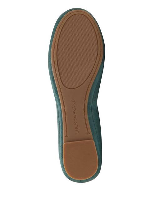 EMMIE LEATHER FLATS, MEDIUM GREEN