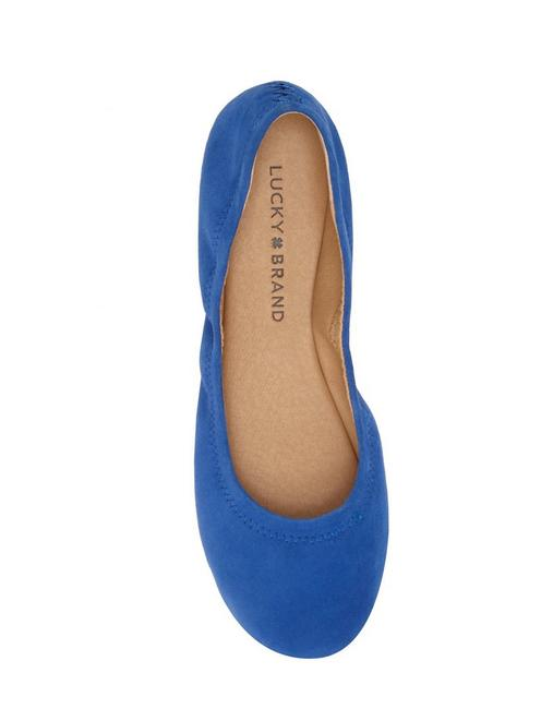 EMMIE LEATHER FLATS, OPEN BLUE/TURQUOISE