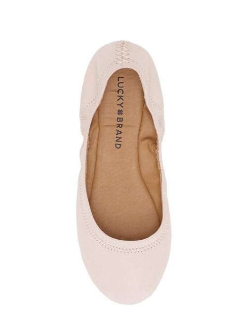 EMMIE LEATHER FLATS, LIGHT PINK