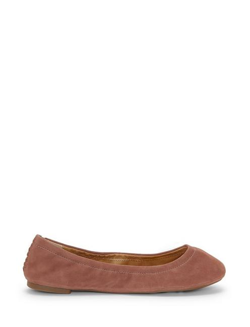 EMMIE LEATHER FLATS, OPEN PINK