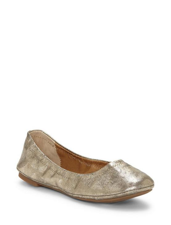 EMMIE LEATHER FLATS, GOLD, productTileDesktop
